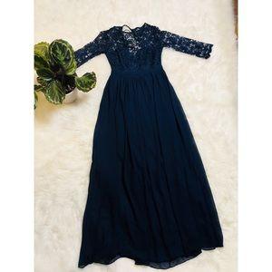 Lulu's Navy Blue Formal Dress